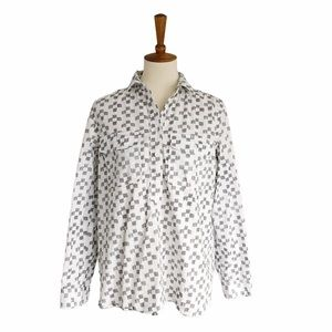 Madewell Checkered Button Top Size Large